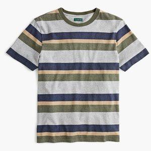 J.Crew Heavyweight Cotton T-Shirt in Gray Strips